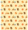 Pale retro wallpaper with seamless toys pattern vector image