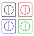 pills icon stock flat design vector image