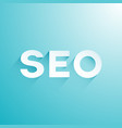 seo logo on light blue background vector image