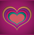 valentine in the form of a recess in the cut from vector image