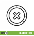 lines icon black banner isolated vector image