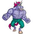 Unicorn rage 2 vector image