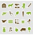 farm stickers vector image