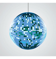 mirror ball vector image vector image