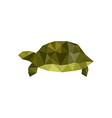 green origami turtle vector image