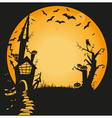 halloween haunted house vector image