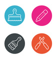 Round Circle Buttons with Icons can be used as vector image