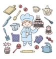 Cook tools set vector image
