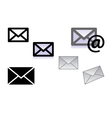 picture of letter icons vector image vector image