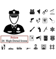 Set of 24 Police Icons vector image