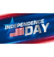 Lettering Independence Day on the background vector image