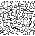 black and white geometric pattern seamless vector image