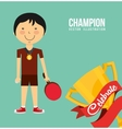 celebrate champion vector image