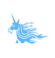 Cute magical unicorn head vector image
