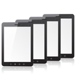 Four tablet PC computer vector image