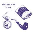getleman vintage stuff set in grunge style vector image