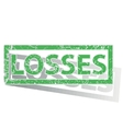 Green outlined LOSSES stamp vector image