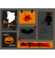 Halloween party invitation greeting card flyer vector image