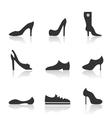 Icon footwear vector image