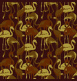military seamless pattern with tropical flamingo vector image