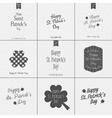 Saint Patricks Day Typography Design Set vector image