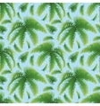 Seamless background palm leaves and sky vector image