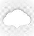 Speech cloud template on transparent background vector image