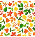 Color leaves seamless pattern background vector image