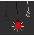 Idea a bulb vector image