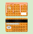example design credit card sweet waffle the vector image