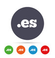 domain es sign icon top-level internet domain vector image