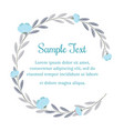 Wreath of flowers in vintage style for text vector image