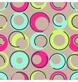 1960s fabric inspired vector image