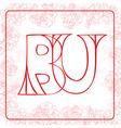 BU monogram vector image