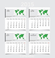 Simple 2015 year calendar May June July August vector image