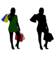 women shopping vector image vector image