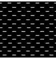 Black and white dash geometric seamless pattern vector image vector image