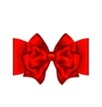 Greeting card template with red bow vector image