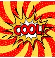 Vintage background Pop art comic book style vector image