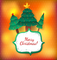 Christmas tree bright greeting card vector image