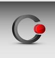 circle shaped red and gray logo vector image