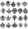 Damask Emblem Set vector image