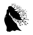 dryad nymph forest silhouette ancient mythology vector image