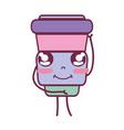 kawaii cute happy soda food vector image