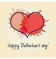 Red heart scribble vector image