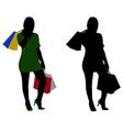 women shopping vector image