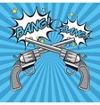 Gun revolver bang bubble design vector image