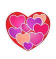 Hearts on Heart vector image vector image