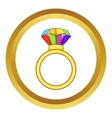 Ring LGBT icon vector image