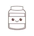 kawaii jar cook food glass vector image